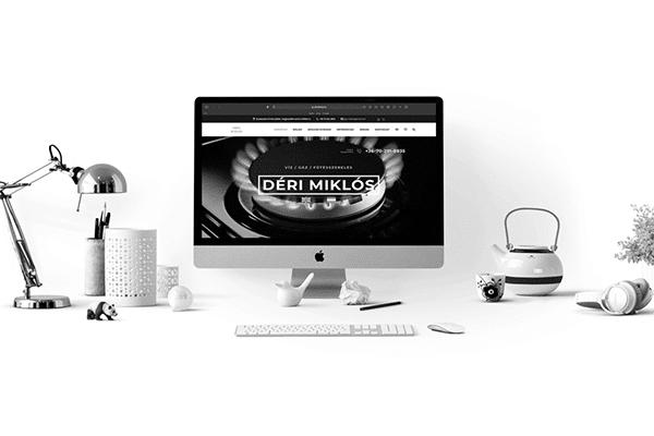 Honlapkészítés szolgáltatás Déri Miklós plumbing iMac computeren.